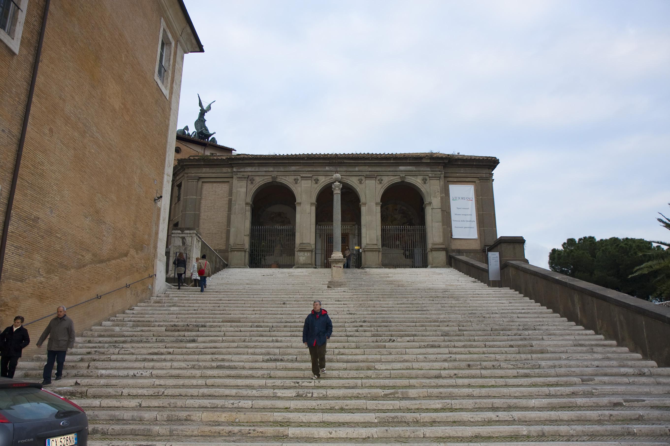 Roma Campidoglio 04 Scalinata Palazzo Nuovo